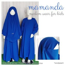 French Khimar Electric Blue